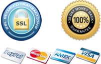 SSL Security, 30 Day money back guarantee
