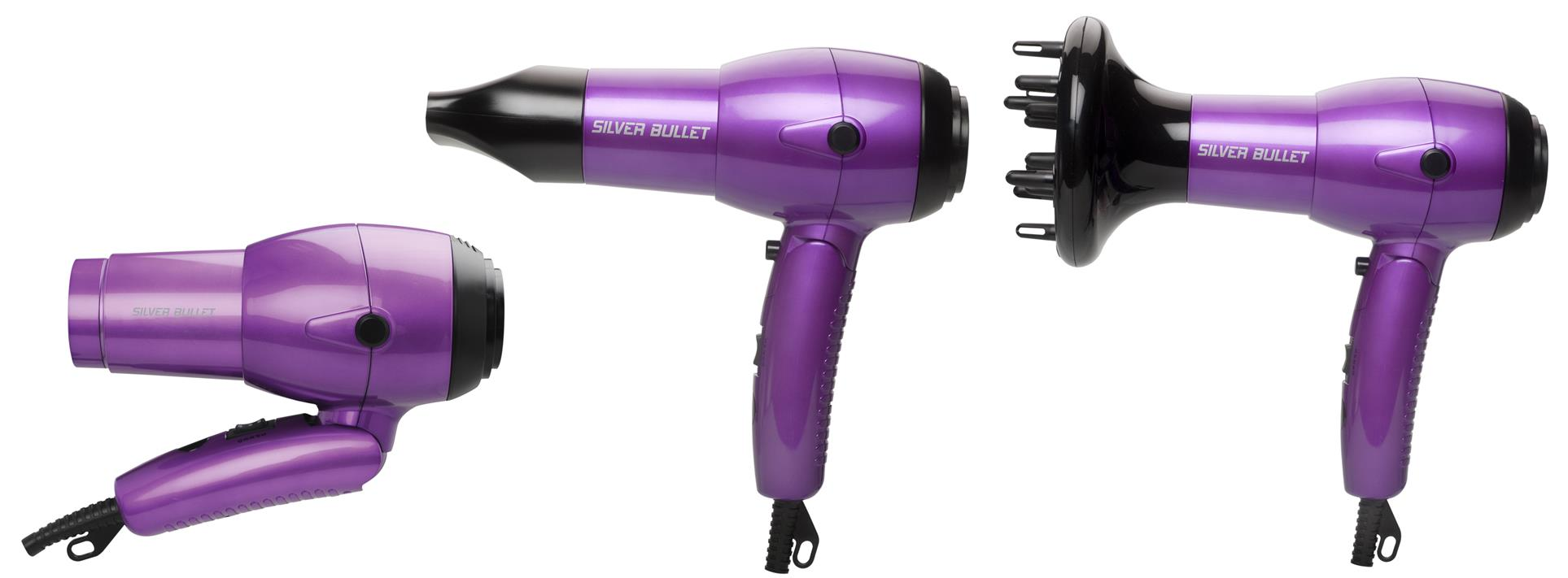 Silver Bullet Worldwide Ionic Travel Hair Dryer from i-glamour.com