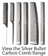 Silver Bullet Professional Carbon Hairdressing Combs