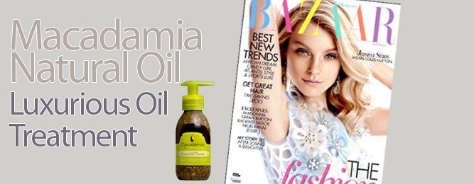 Macadamia Natural Oil Treatment seen in Harper's Bazaar