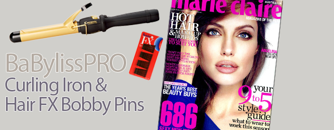 BaBylissPRO and Hair FX seen in Marie Claire, March 2012