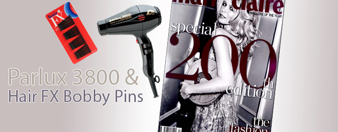 Parlux 3800 & Hair Fx Bobby Pins seen in Marie Claire, April 2012