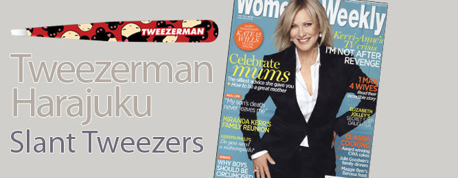 Tweezerman Harajuku Slant Tweezers seen in The Australian Woman's Weekly