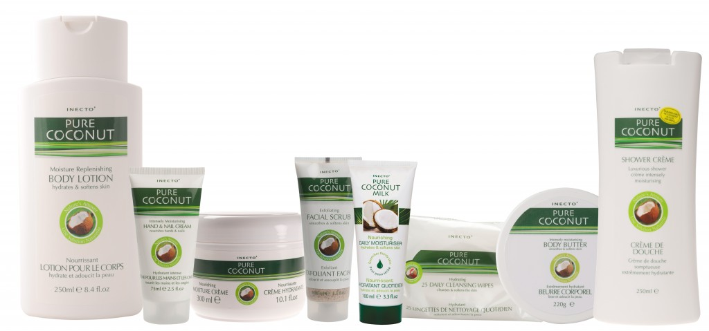 Inecto Pure Coconut Oil and Coconut Milk Body and Face Skin Care