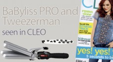BaByliss PRO and Tweezerman seen in Cleo Magazine