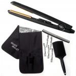 Silver Bullet Black Crystal Hair Straightener