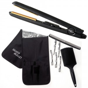 Silver Bullet Black Crystal Hair Straightener from i-glamour.com