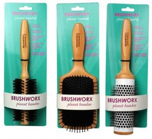 Brushworx Planet Bamboo Hair Brush Collection