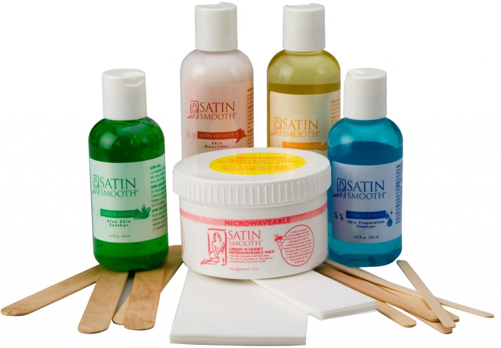 Satin Smooth Cream N Honey Microwaveable Waxing Kit