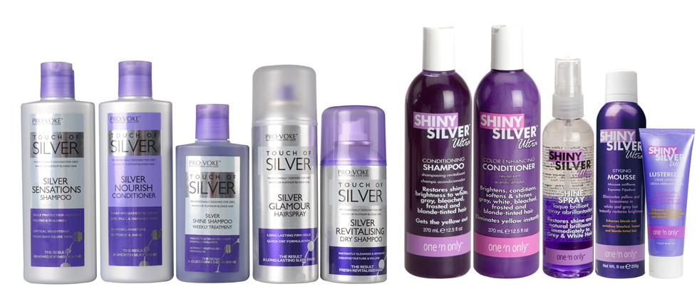 Provoke Touch of Silver and One 'n Only Ultra Shiny Silver Hair Care