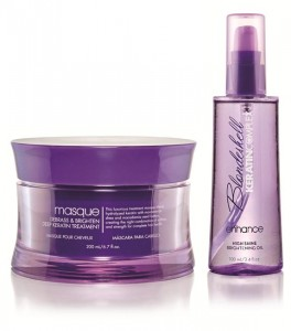 Keratin Complex Blondeshell Masque and Enhancing Oil