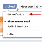 Facebook LIke and Get Notifications
