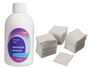 BeautyPRO Nail Polish Remover & BeautyPRO Disposable Cotton Squares