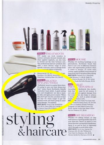 Parlux 3800 Ceramic & Ionic Blow Dryer seen in Marie Claire