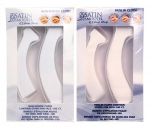 Satin Smooth Muslin Cloth Contour Waxing Strips