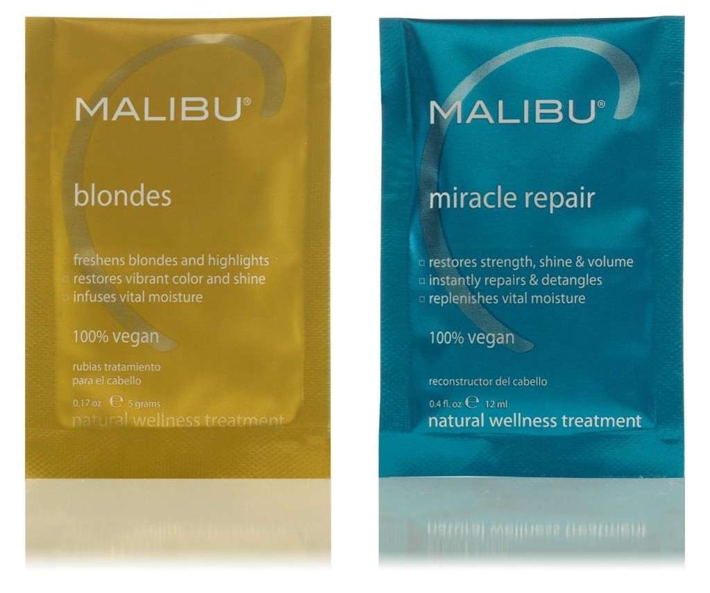 Malibu C Blondes and Miracle Repair Hair Reconstructor from i-glamour.com