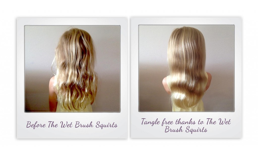 The Wet Brush Squirt Hair Brush from i-glamour - before and after