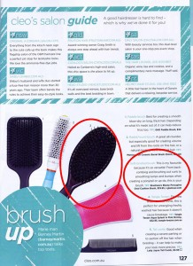 Brushworx Ebony Porcupine Oval Cushion Hairbrush from i-glamour.com as seen in Cleo magazine