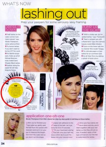 Lash Me Professional Reusable Eyelashes from i-glamour in Cleo Magazine
