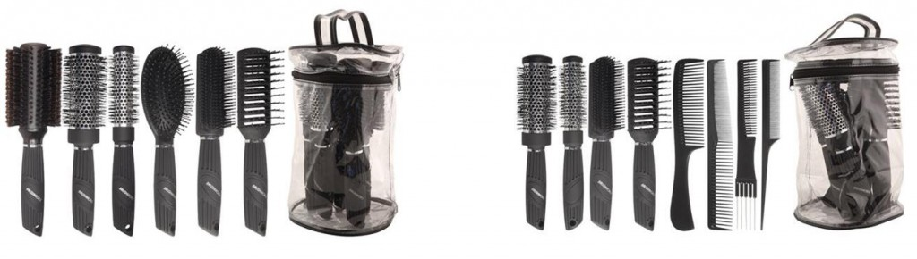 Brushworx Pro Hair Brush and Hair Comb Packs, 8pc and 6pc from i-glamour.com