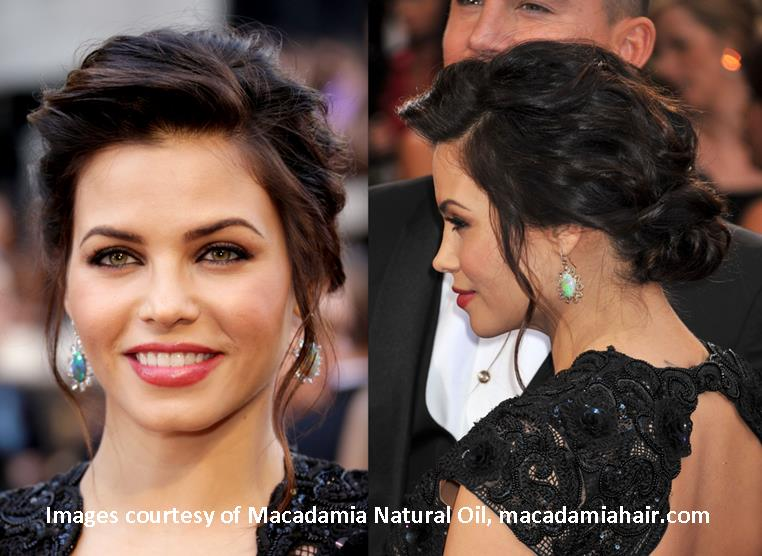 How To Create A Loose Textured Updo From Macadamia Natural Oil And