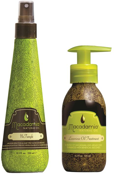 Macadamia Natural Oil No Tangle Pre-Styler and Luxurious Oil Treatment from i-glamour.com
