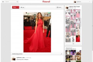 Rihanna @ Grammys via i-glamour's Pinterest Page