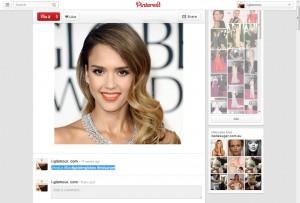 Jessica Alba @ Golden Globes via i-glamour's Pinterest Page