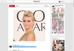 Julianne Hough @ Golden Globes via i-glamour's Pinterest Page