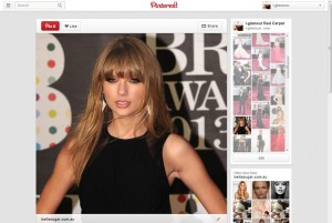 Taylor Swift @ the Brit Awards via i-glamour's Pinterest Page