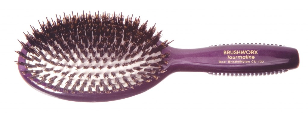 Brushworx Tourmaline Porcupine Oval Cushion Hair Brush - buy online from i-glamour.com