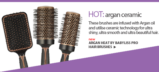 The brushes are infused with Argan oil and utilise ceramic technology