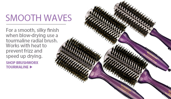 Brushworx Tourmaline Hair Brushes