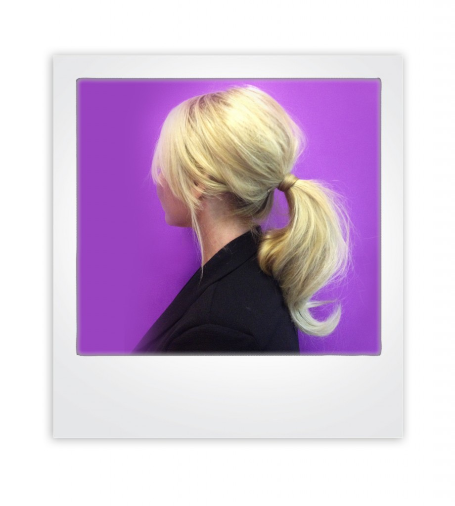Ponytail with a teased crown for easy 60s glamour: by iglamour in Australia