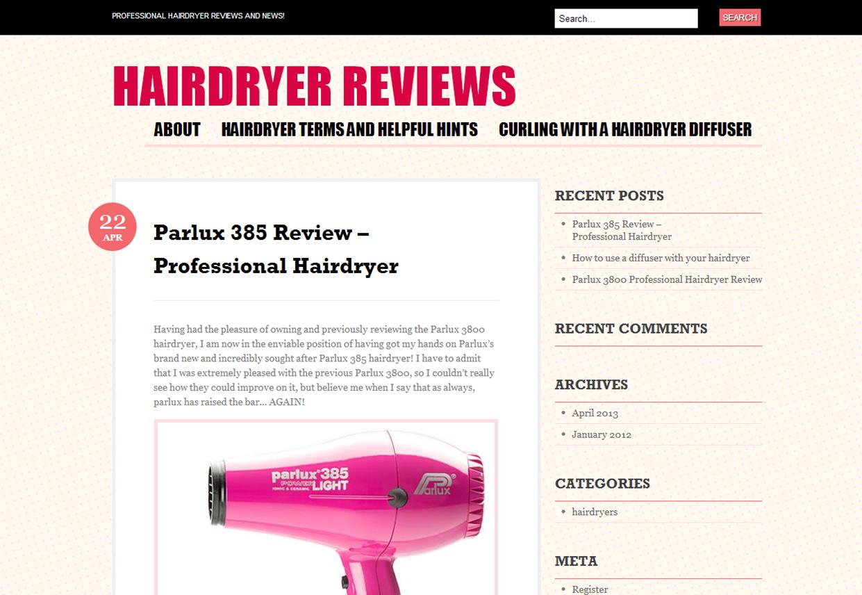 Parlux 385 Review – Professional Hairdryer