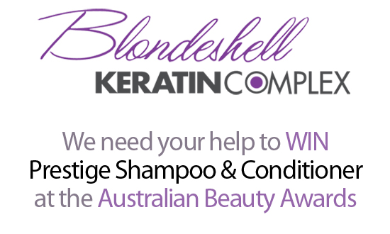 Vote for Keratin Complex Blondeshell at Australian Beauty Awards