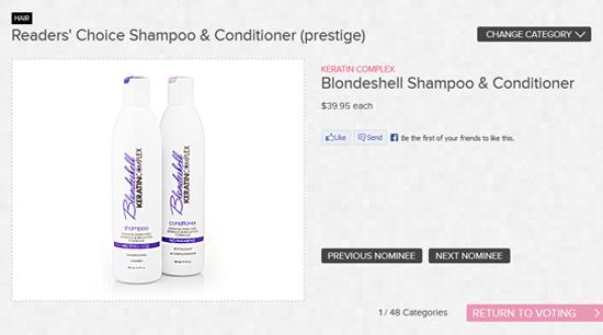 Keratin Complex Blondeshell Shampoo and Conditioner