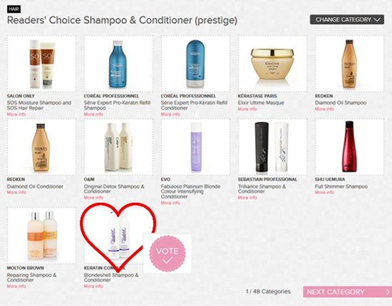 Readers Choice Shampoo and Conditioner