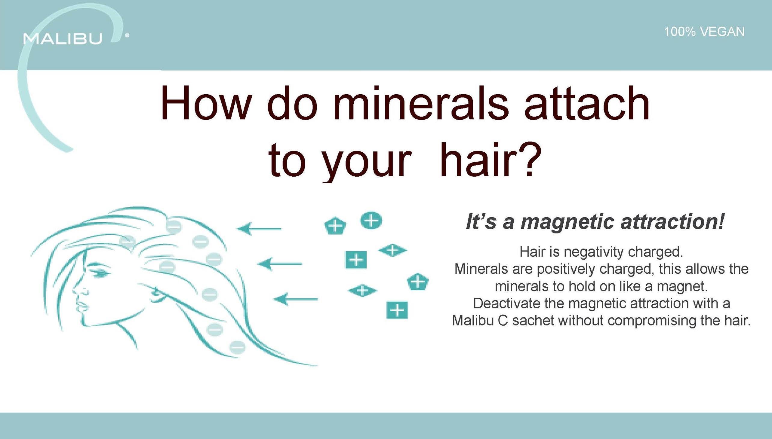 How do minerals attach to my hair?