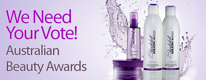 Keratin Complex Blondeshell Needs Your Vote at the Australian Beauty Awards