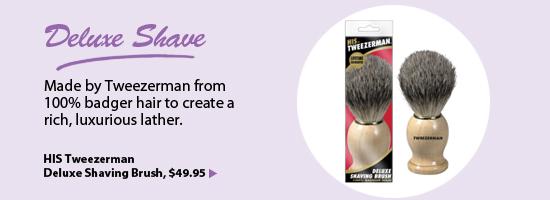 HIS Tweezerman Deluxe Shaving Brush