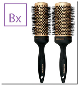 Brushworx Gold Ceramic Hot Tube Hair Brush