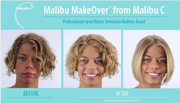 Malibu C Hair Treatment Before & After