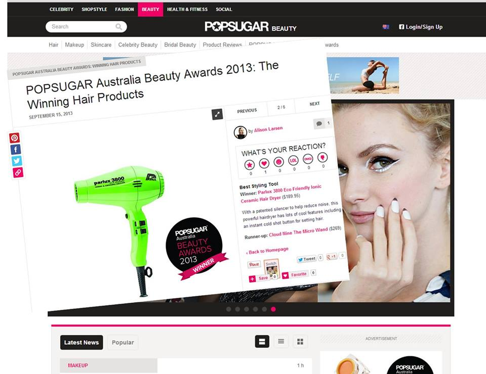 Pop Sugar Australia Beauty Awards 2013: The Winning Hair Products