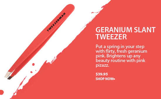 Tweezerman Slant Tweezer in Geranium