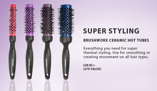 Brushworx Ceramic Hot Tube Hair Brushes from i-Glamour