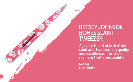 Tweezerman Betsey Johnson Designer Series Slant Tweezer-Bones