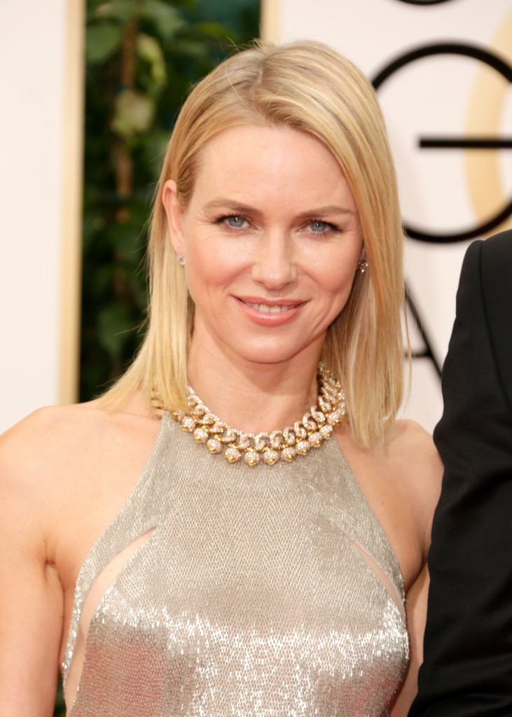 Naomi Watts Hair at the Golden Globes