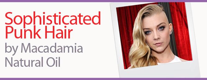 Giannandrea for Macadamia Natural Oil Styles Natalie Dormer's Hair at the SAG Awards