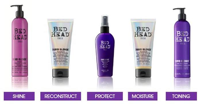 TIGI Bed Head Dumb Blonde Hair Care from i-glamour